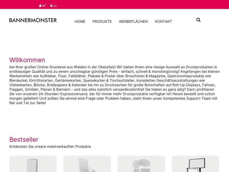 Screenshot von http://bannermonster.com/